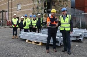 scunthorpe steel being used for new st john's market as £4m redevelopment of former bhs store takes shape