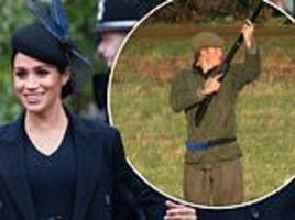 meghan joins royals (including kate) for boxing day shooting feast