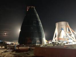 elon musk says spacex's starship could reach orbit within 2 years — here's his latest photo of the spaceship's construction