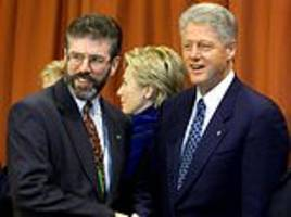 british officials' fury at bill clinton for letting sinn fein president gerry adams visit us in 1994