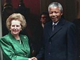 mrs thatcher told aides of her disappointment with nelson mandela