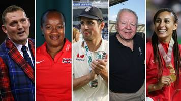 new year honours: alastair cook and bill beaumont knighted
