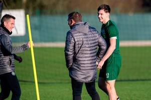 celtic star kieran tierney pushes the pace to be fit for rangers - the 6 best images from lennoxtown