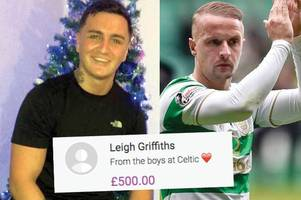 celtic star leigh griffiths chips in £500 to help family of clydebank custody death victim