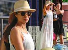 rupert murdoch's ex wendi deng, 50, boards a luxurious yacht with daughter grace, 17, in st barts