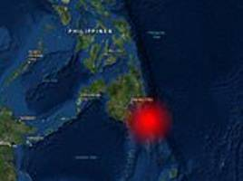 tsunami warning issued after a massive 7.2 magnitude earthquake rocks the philippines