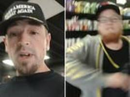Vape shop worker launches furious rant against Trump supporter