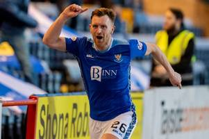dundee 0 st johnstone 2 as scott tanser and liam craig fire saints to new record