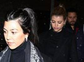 sofia richie joins scott disick and his ex kourtney kardashian for a night out in aspen