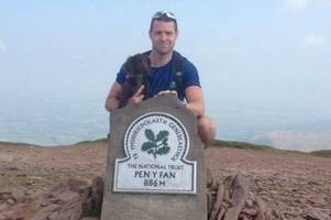 Son's heartbreaking tribute to police detective as he raises thousands for veterans' charity