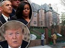 obamas have a wall around their home! trump uses former first couple to argue for his border barrier