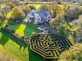 six-bed country house is ultimate problem-solvers' paradise with octagonal maze