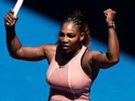 serena williams wins first competitive match since us open meltdown