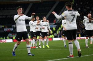 harry wilson continued his hot form for derby county and a showdown with nottingham forest