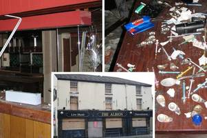inside the abandoned pub from hell as plans revealed to give deathtrap building a new future