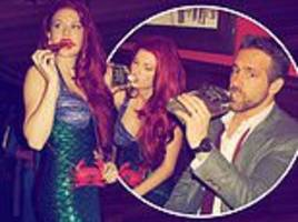 taylor swift channels the little mermaid as she throws star-studded new year's costume bash