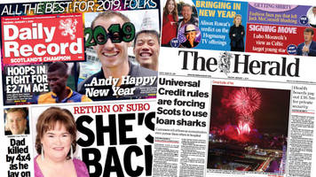 scotland's papers: the return of subo and loan shark fears