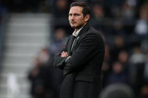 frank lampard gives his reaction to derby county's draw with middlesbrough