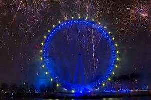 New Year's Eve revellers treated to pro-Europe fireworks display