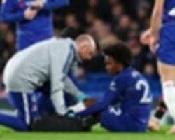 sarri relieved over 'not very serious' willian injury