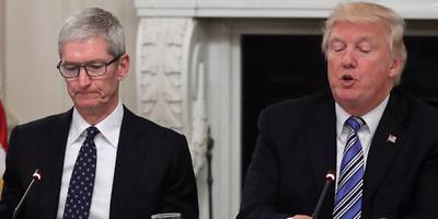 tim cook blames trump's trade war with china as a big factor in apple's slowdown