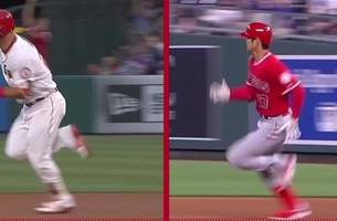 shohei ohtani and mike trout make up the true amazing race
