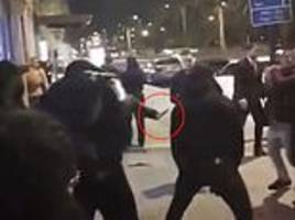 new video shows knife mayhem exploding outside new year mayfair 'sex party' where bouncer murdered