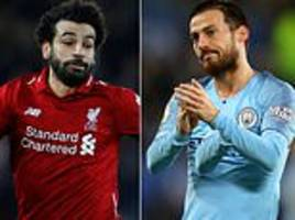 mohamed salah? sergio aguero? virgil van dijk? who makes combined manchester city and liverpool xi?