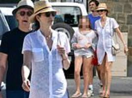 paul mccartney, 76, and swimsuit-clad nancy shevell, 59, enjoy enviable st.barts getaway