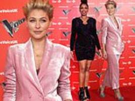 the voice host emma willis and judge jennifer hudson lead the glamour at launch of thenew series