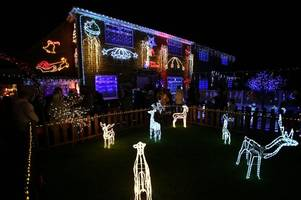 christmas lights at nuthall family home raise more than £25,000 for the second year running