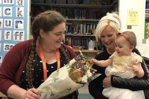 devon mum is reunited with nhs hero she named her baby after