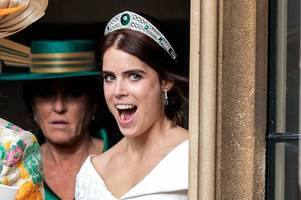 princess eugenie wore 'unusual' third wedding dress for her festival-themed party