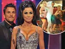 peter andre left red-faced after jimmy carr compares his ex-wife katie price to a raunchy granny
