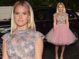 alice eve puts on stylish display in pink tutu at w magazine party in la