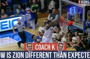 coach k: duke's zion williamson 'is even better than i thought he would be'