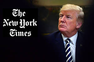 donald trump applauds ex-new york times editor for calling paper 'unmistakably anti-trump'
