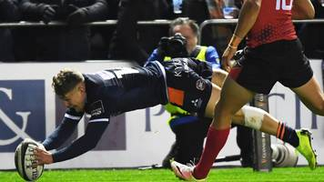 edinburgh up to second with 38-0 win