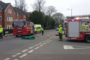 woman driver trapped in car following three-car smash in harborne