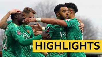 fa cup: woking 0-2 watford highlights