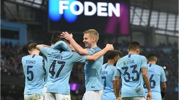 man city 7-0 rotherham in fa cup third round: phil foden with first etihad goal