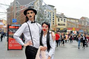this is why two drag queens were parading through leicester city centre this weekend