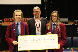 hamilton college donate £3000 to town's foodbank