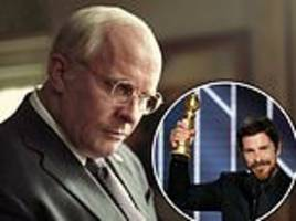 christian bale thanks 'satan' for inspiration on playing dick cheney as he accepts his golden globe