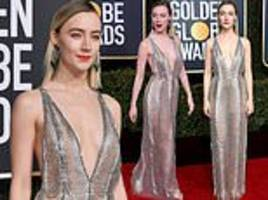golden globes:saoirse ronan dazzles in custom made gucci gown