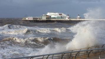 woman swept into sea on blackpool promenade