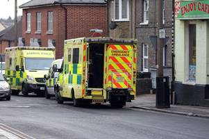 braintree town centre incident: pictures show police and ambulance descend on road