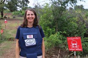 brave scot helps dig up landmines in cambodia laid during pol pot's deadly regime