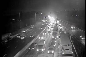 m25 traffic: delays at dartford crossing and j26 after three separate crashes