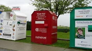 Canada woman dies after becoming trapped in a donation bin